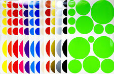 15 Various Polka Dots Decals Stickers Home Wall Bathroom Decor Colored Circles