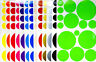 15 Various Colours Multicolor Polka Dots Vinyl Decals Stickers Circles Wall