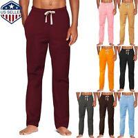 MENS WOMENS UNISEX PLAIN SWEATPANTS CASUAL JOGGERS FLEECE PANTS Lounge Pajama