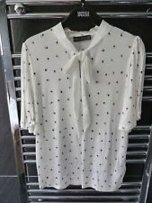M&S Size 14  Ladies Short Sleeve Tie Neck Blouse BNWT MARKS AND SPENCER
