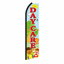 Daycare Playground Advertising Sign Swooper Feather Flutter Banner Flag Only