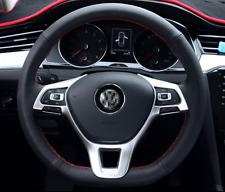 Passend für VW Tiguan Silber Lenkradtasten Lenkrad Rahmen Blende Schutz
