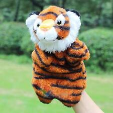 Story Learning Baby Kid Children Zoo Plush Toy Tiger Hand Glove Puppets Doll A