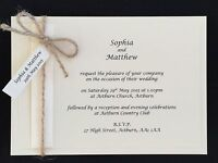 Sample - Handmade Vintage Rustic Day / Evening Wedding Cards Invitations