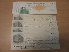 1870s The National Bank of Commerce New Bedford MA unused check, +(4) 1912/11913