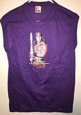 "Original Movie Promotion ""Conan The Destroyer"" Sleeveless T Shirt. Size:M Purple"