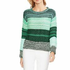 VINCE CAMUTO NEW Women's Drop-shoulder Color-block Crewneck Sweater Top L TEDO