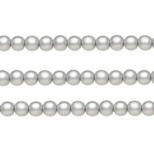 Wood Round Beads Silver 10mm 16 Inch Strand