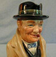 "Winston Churchill Royal Doulton 9"" Vintage Toby Jug Pitcher #8360 Character"