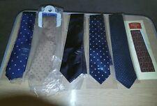job lot gents silk ties 6 X  1 Charles tyrwhitt 1 m&S 2Savile Row DQT past Times