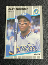 New listing Gary Sheffield 1989 Fleer Rookie Collector's Edition Milwaukee Brewers RC