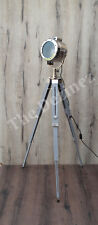 Retro Modern Grey Nickel Tripod Floor Lamp - Bedroom, Study, Hallway Light