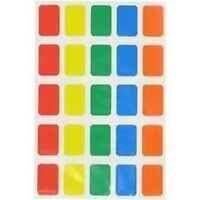 300 to 3,000 Oblong Sticky Labels 12 x 18mm Self Adhesive Stickers Asstd Colours
