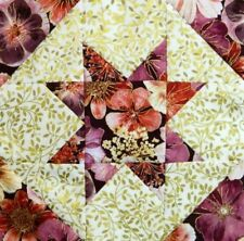{16} Pre-Sewn Already Pieced Star Light Star Bright Quilt Blocks ~Floral