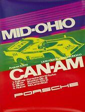 ORIGINAL 1972 PORSCHE POSTER 917 CAN-AM MID-OHIO 101x76cm Rennplakat Strenger