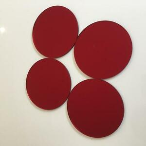 """Red Mirrored Acrylic Circle Crafting Mosaic/Wall Tiles Sizes 1cm-20cm 1""""-7.9"""""""