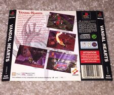 Vandal Hearts Sony PS1 PlayStation 1 Game Back Insert Only