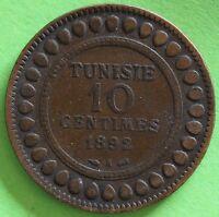 TUNISIE 10 CENTIMES 1892 A