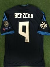Benzema Real Madrid 2015 Match Prepared Shirt Cl .