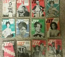 LARGE LOT(61) VIntage JET Magazines 1960s ACCEPTABLE Condition sports politics