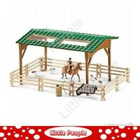 NEW SCHLEICH 42189 Riding Arena with Shelter, Fencing, Jumps, Horse and Rider