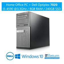 HomeOffice PC / DELL Optiplex 7020 MT / 240GB SSD / Intel Core i5-4590 @3,3GH...