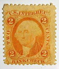 US Revenue Stamp #R6c – 1862-71 2-cent Bankcheck Orange - Uncancelled-Mint