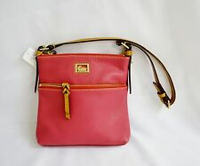 Dooney & Bourke Purse Letter Carrier Dark Pink Leather Purse Bag  MSRP 168