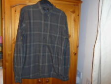 Mens brown checked long sleeve casual shirt, PULL & BEAR, size Large
