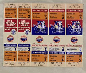 Houston Astros Phantom 1979 NLCS/World Series Tickets - Mezzanine Level