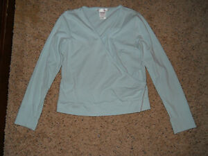 Ladies ~ Blue long sleeve cross front Sleepwear ~ Size M ~ gilligan & o'malley