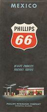 1960 PHILLIPS 66 Gas Station Road Map MEXICO Carta de Carreteras Veracruz Puebla