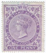 (I.B) Cape of Good Hope Revenue : Stamp Duty 1d (1873)