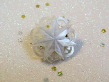 CARVED MOTHER OF PEARL SHELL 7 POINTED STAR CHINESE / JERUSALEM PIN BROOCH