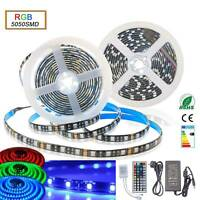 1m-30m Led Streifen Stripe RGB Wasserdicht Mehrfarbig Band Leiste 5050 Lichtband