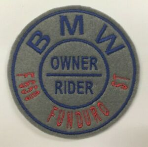 BMW F650 Funduro ST Motorcycle Sew On Embroidered Patch