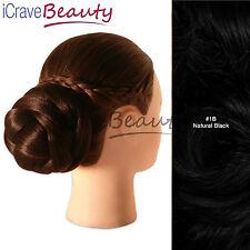 Clip in Hair Bun - Parisian Chignon Style Bun Hairpiece - All Colours