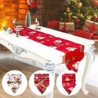 Christmas Dining Table Runner Cloth Flag Xmas Festival Party Home Decor 35*180CM
