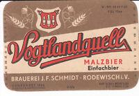 1 Bieretikett Rodewisch, Malzbier , DDR