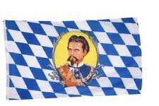 Fahne Flagge Deutschland Bayern König Ludwig - 90 x 150 cm Hissflagge