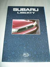 Subaru Liberty range brochure c1994 Australian market