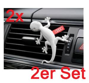 2x Audi Duftspender Duftgecko Grau Kiefern & Orangen 000087009A