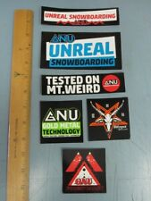 GNU snowboard 2017 6 STICKER SET New Old Stock Mint Condition Lib Tech