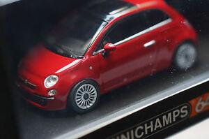 Rare Fiat 500 2007 Minichamps 1:64 Road Car Series Unopened order MIB Ltd Edit