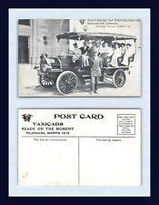 WASHINGTON DC SIGHT SEEING CAR AT RAILROAD TERMINAL TAXICAB COMPANY CIRCA 1910