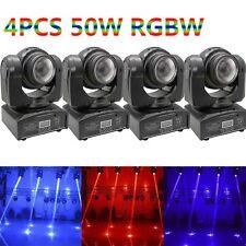 4PCS 50W Double Side Beam LED Moving Head Stage Lighting RGBW DMX DJ Disco Light