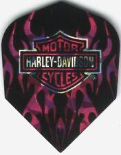 Harley Davidson Pink Flame Logo Dart Flights: 3 per set