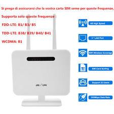 MODEM ROUTER WIRELESS WIFI SIM LAN 4G LTE 3G MOBILE HOTSPOT 300MBPS CPE PORTABLE