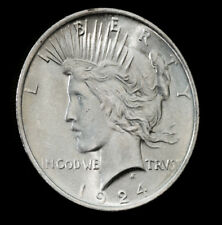 1924 $1 Peace Silver Dollar BU Gem PQ High Grade Superb Luster No S/H *2108