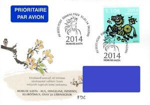 Estonia 2014 (02) Chinese New Year – Year of the Horse (addressed FDC)